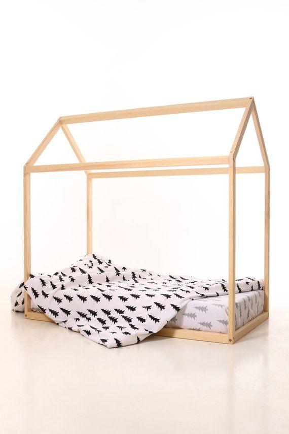 Lit Tipi Enfant Charmant 190x90cm Lit Cabane Lit Montessori Montessori Bed House Bed