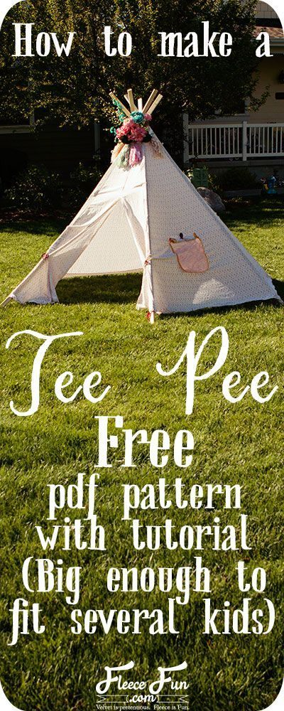 Lit Tipi Enfant De Luxe How to Make A Teepee Free Pattern Diy