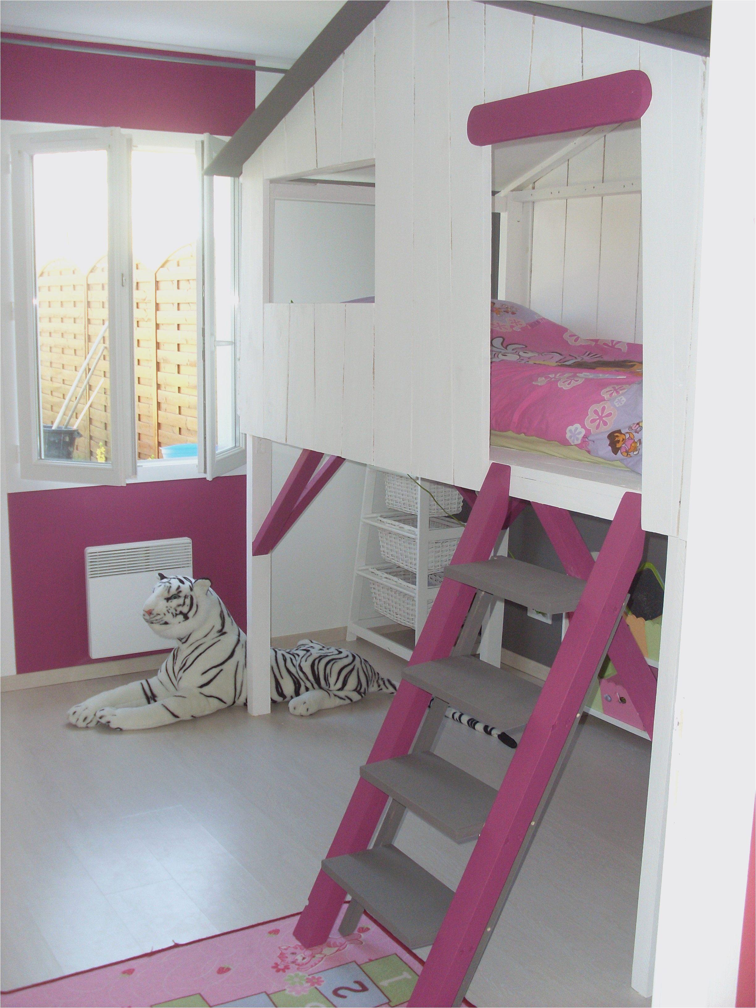 Lit toboggan Enfant Luxe Lit Mezzanine toboggan Unique Lit Avec Escalier Rangement Rangement