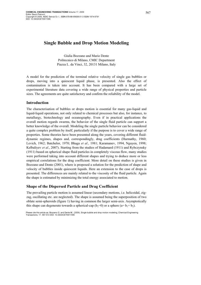 Lit Triple Superposé Inspirant Pdf Technical Synthesis Report On Droplet Bubble Dynamics Plume