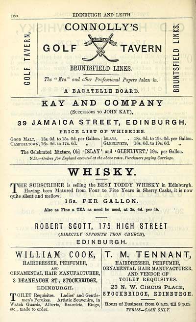 Lit Trois Place Douce 810 Scottish Post Fice Directories towns Edinburgh 1846