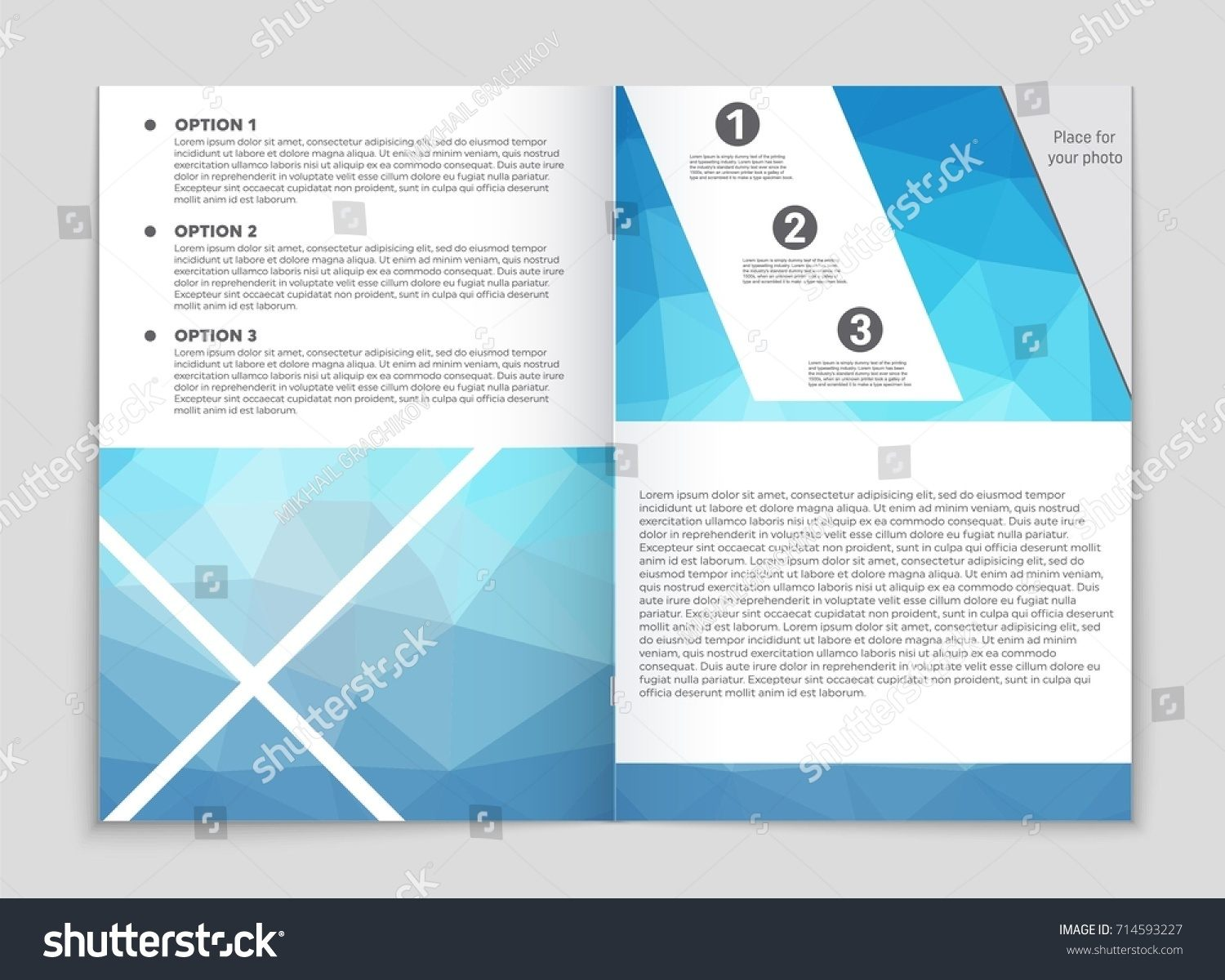 Lit Trois Place Élégant Abstract Vector Layout Background Set Art Stock Vector Royalty Free