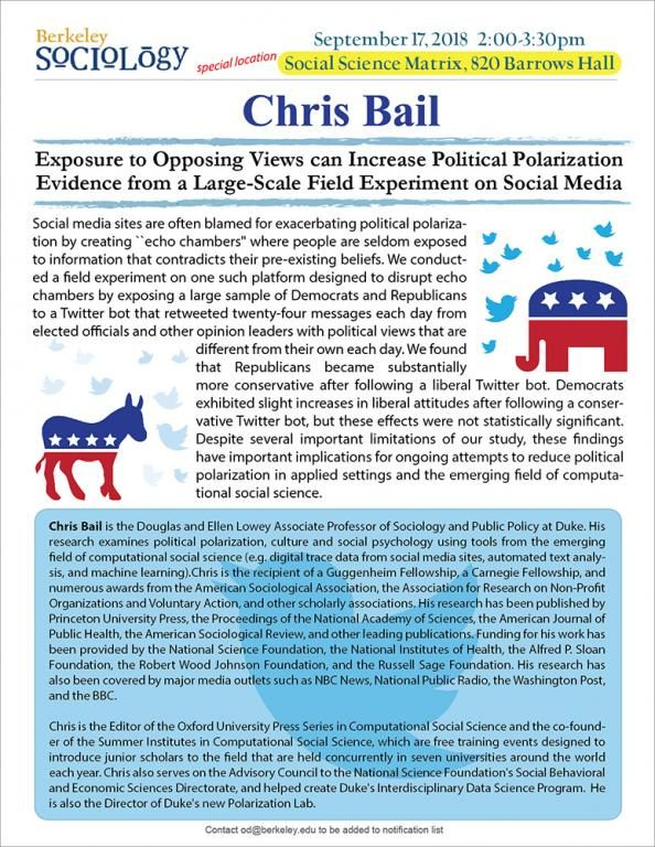 Lit Trois Place Unique Chris Bail Exposure to Opposing Views Can Increase Political