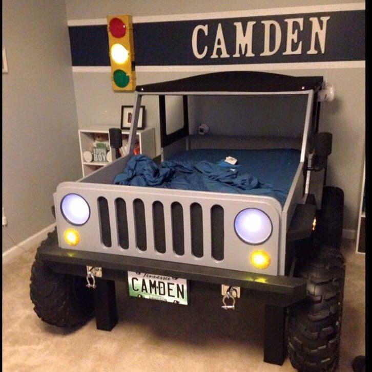 Lit Voiture Enfant Douce Jeep Bed Plans Twin Size Car Bed Brico Pinterest