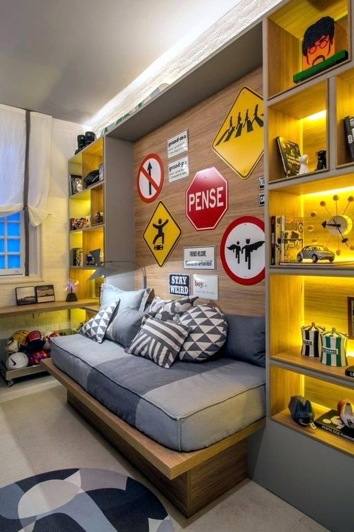 Chambre Ado Gar§on Moderne Beau Deco Chambre Ado Garcon Pas Cher Lit
