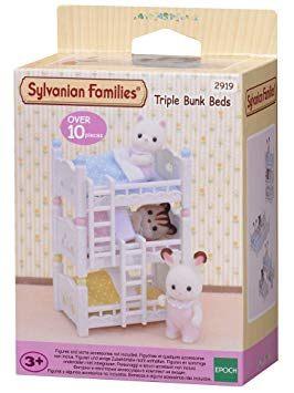 Lits Superposés 3 Couchages Meilleur De Sylvanian Families 2919 Lits Superposés  3 Couchettes Bébés