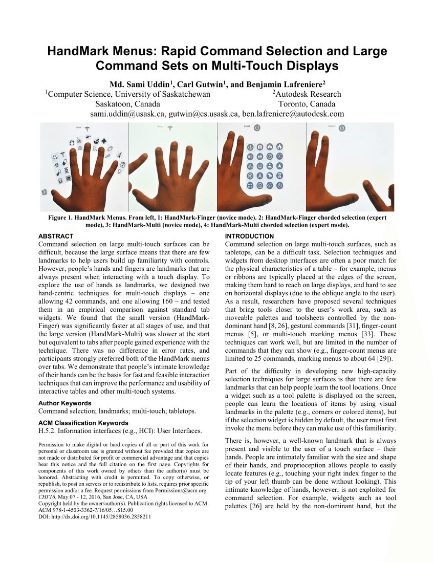 Mobile Musical Lit Bébé Inspirant Pdf Hand Occlusion On A Multi touch Tabletop