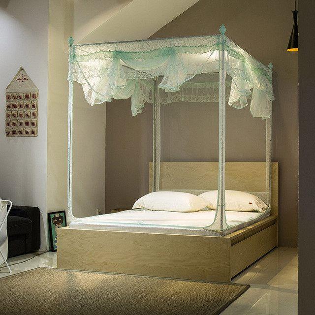 Moustiquaire Lit 2 Places De Luxe Lit Baldaquin 2 Personnes Aliexpress Acheter U Anti Moustique Tissu