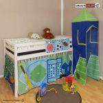 Moustiquaire Lit Enfant De Luxe Rideau De Lit Unique Lit Superposes Ball Enfants Jouez Lit Pin