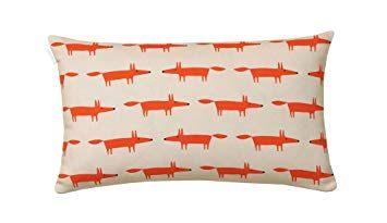 Mr Fox Linge De Lit Frais Scion Living Mr Fox Taie Rectangle Coton Mandarine 75 X 50 Cm