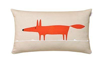 Mr Fox Linge De Lit Impressionnant Scion Living Mr Fox Taie Rectangle Coton Mandarine 75 X 50 Cm