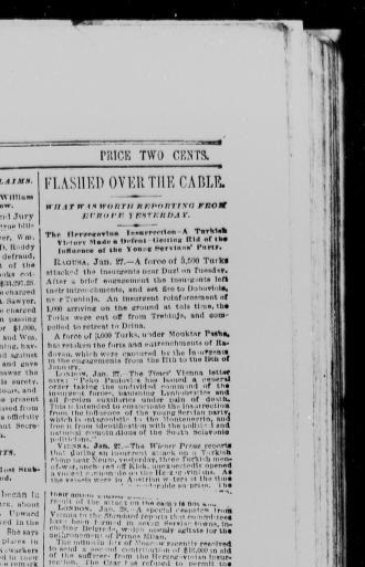 New Lita tours Charmant the Sun New York [n Y ] 1833 1916 January 28 1876 Image 1