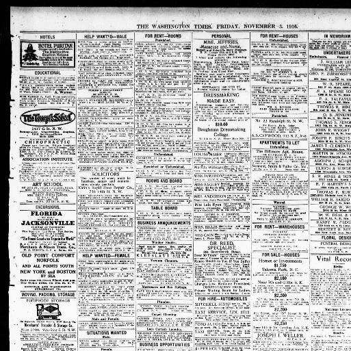New Lita tours De Luxe the Washington Times Washington [d C ] 1902 1939 November 03
