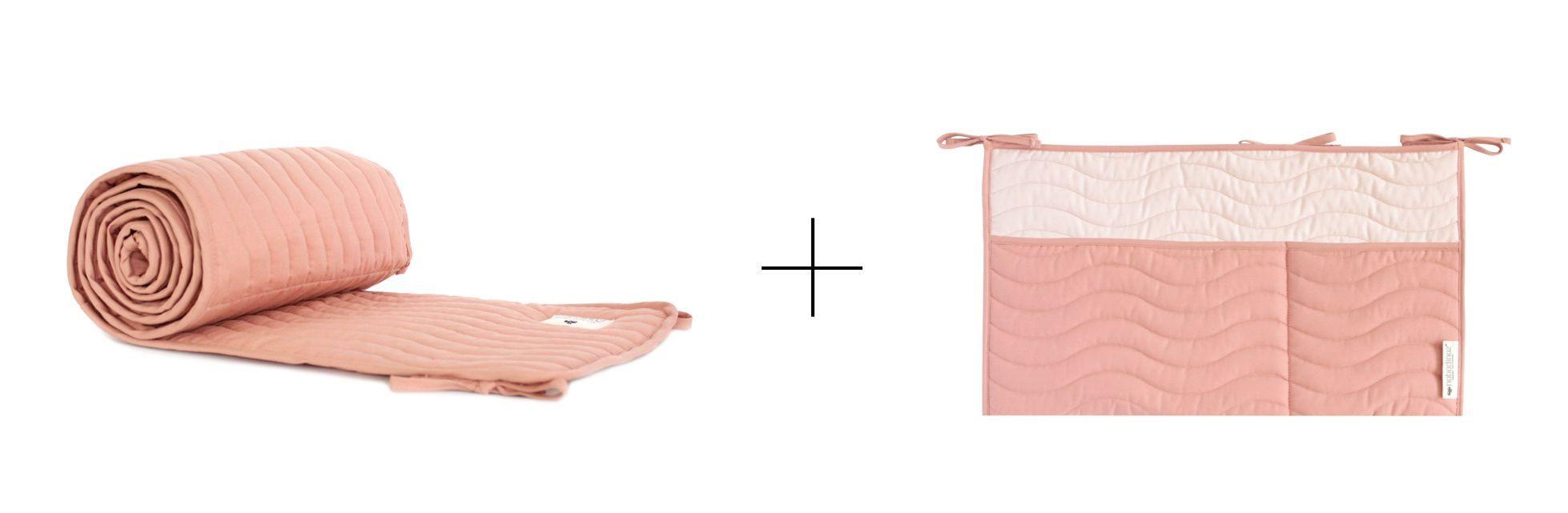 Nobodinoz Tour De Lit Luxe V½hodná Sada Mantinelu A Kapsáře Dolce Vita Pink Od Nobodinoz