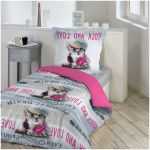 Parure De Lit 1 Place Charmant Beau Parure Lit 1 Place Rock Love Chat Rose Linge De Lit Linge