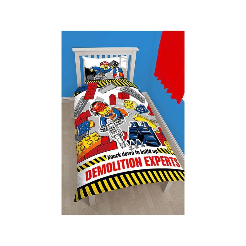Parure De Lit 120×150 Joli Couette Lego City Demolition Pour Lit Enfant Gar§on
