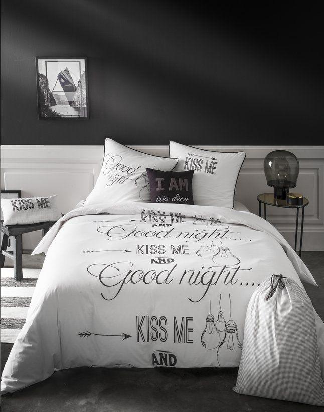 Future Home Essentiel Housse de couette Good Night coton 140 x 200