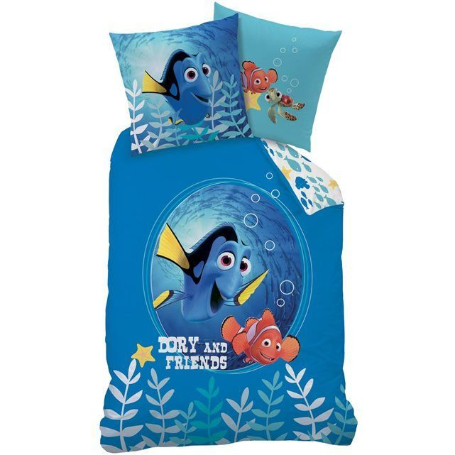 Parure De Lit 140×200 Joli Image Housse De Couette Et Taie D oreiller Bleu 140×200 Cm Nemo 100