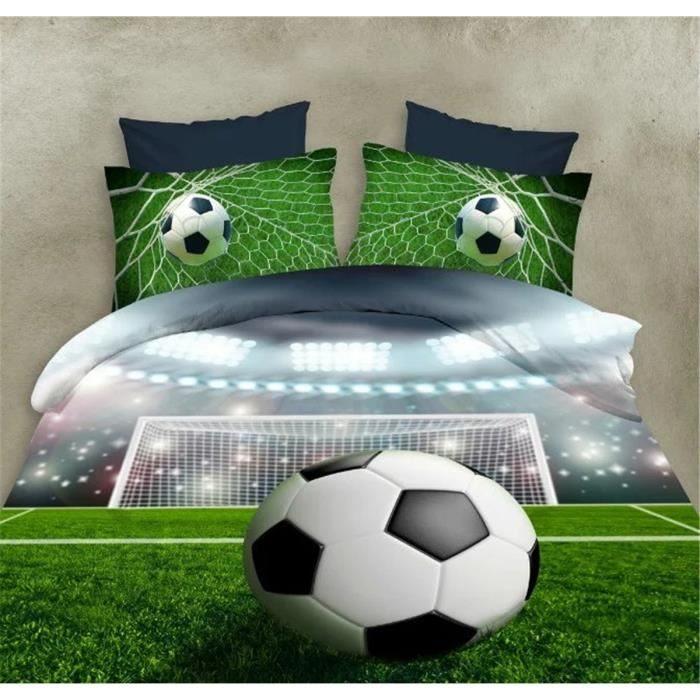 Parure De Lit 140×200 Le Luxe Parure De Lit Football Achat Vente Pas Cher