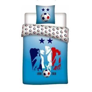 Parure De Lit 180×200 Douce Parure De Lit Football Achat Vente Pas Cher