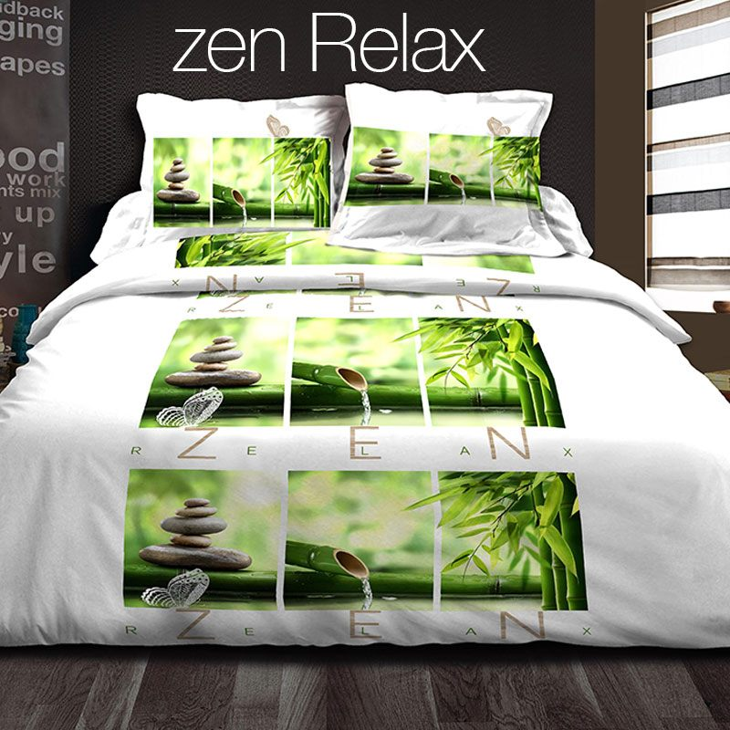 Parure de Couette Zen 3 pi¨ces 220 x 240 cm Trend Corner