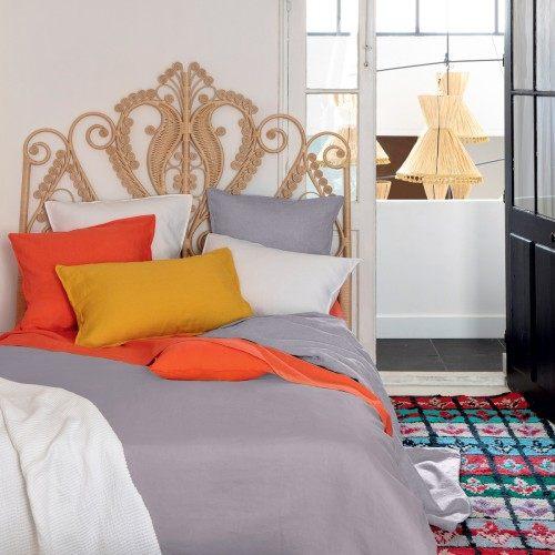 Parure de lit Olivier desforges Petit jour Zinc Linge de lit haut