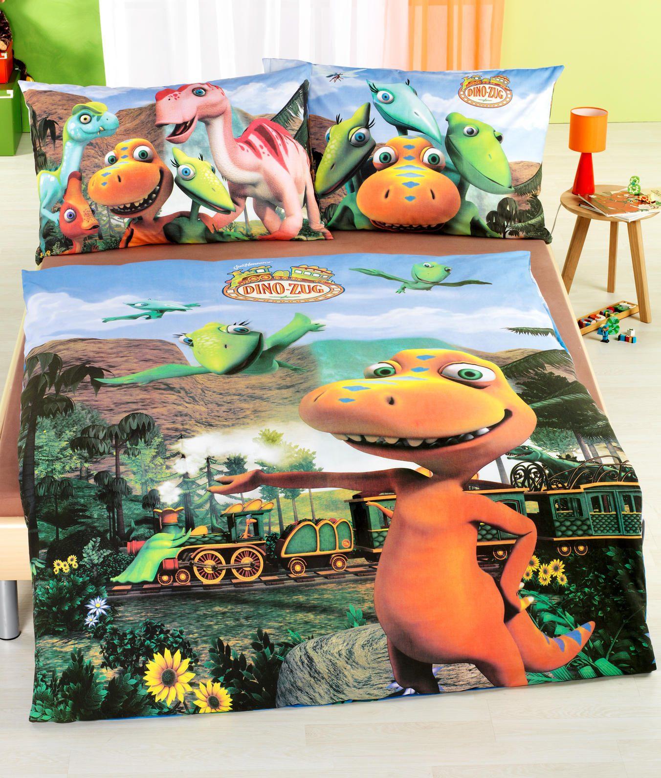 Parure de lit pour enfants Train des dinosaures vente en ligne