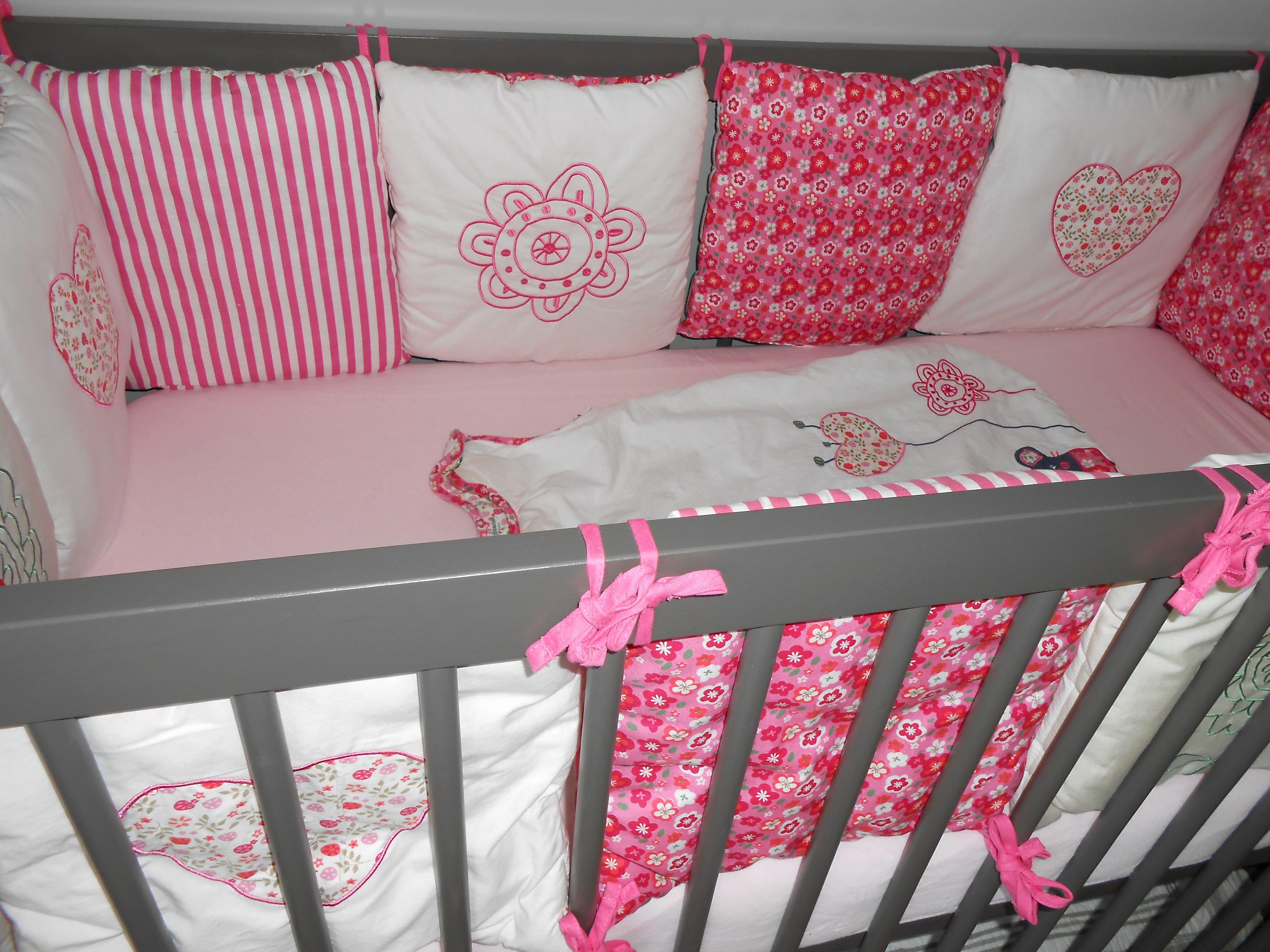 Parure De Lit Bébé Fille Douce Chambre Bébé Fille Gris Et Rose Beau Chambre Bébé Fille Gris Et Rose