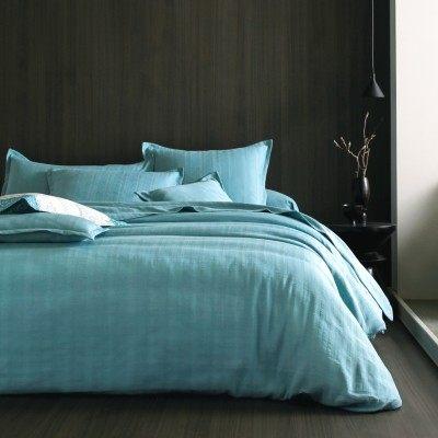 Parure De Lit Bleu Canard Charmant Parure De Lit Bleue Taie Percale Bali Blanc Des Vosges Bleu Canard