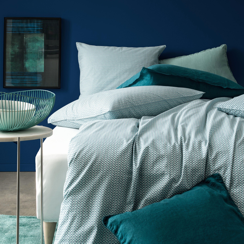 Parure De Lit Bleu Charmant Housse De Couette Bleu Canard Luxe Chambre Bleu Canard Et Blanc 100