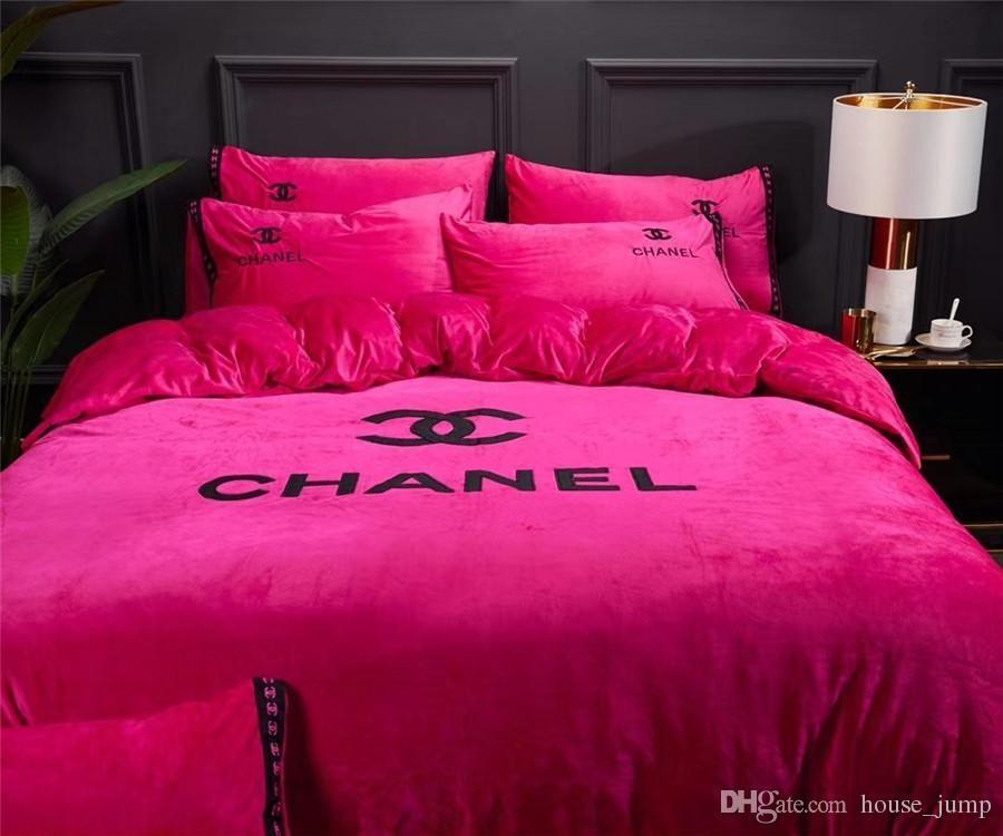 Parure De Lit Chanel Meilleur De Acheter X Lettre Broderie Literie Cover Suit nordic Boutique Mode