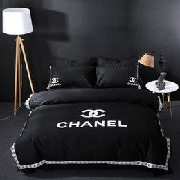 Parure De Lit Chanel Nouveau Housse De Couette Noir Rayé Distributeurs En Gros En Ligne Housse