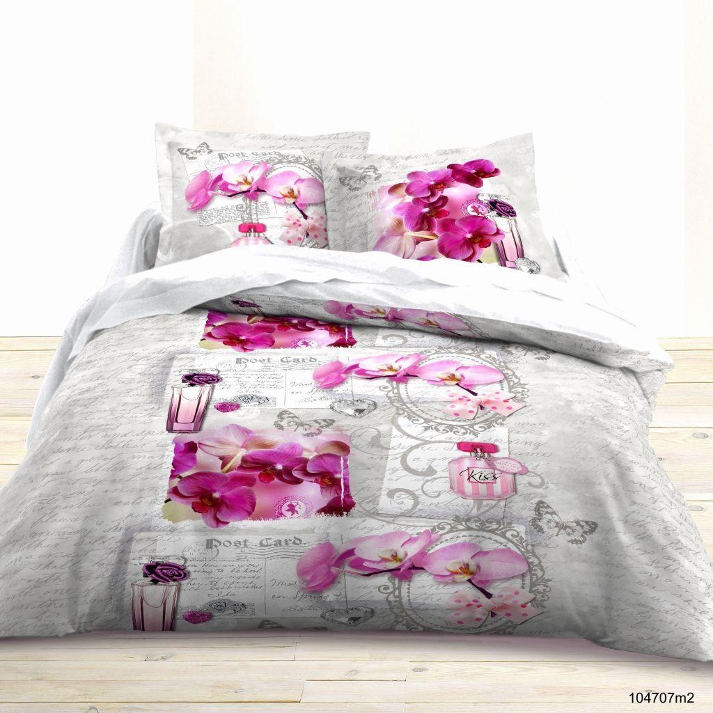 Parure De Lit Douce Parure De Lit 160×200 Unique Housse De Couette Noir Et Rose Luxe