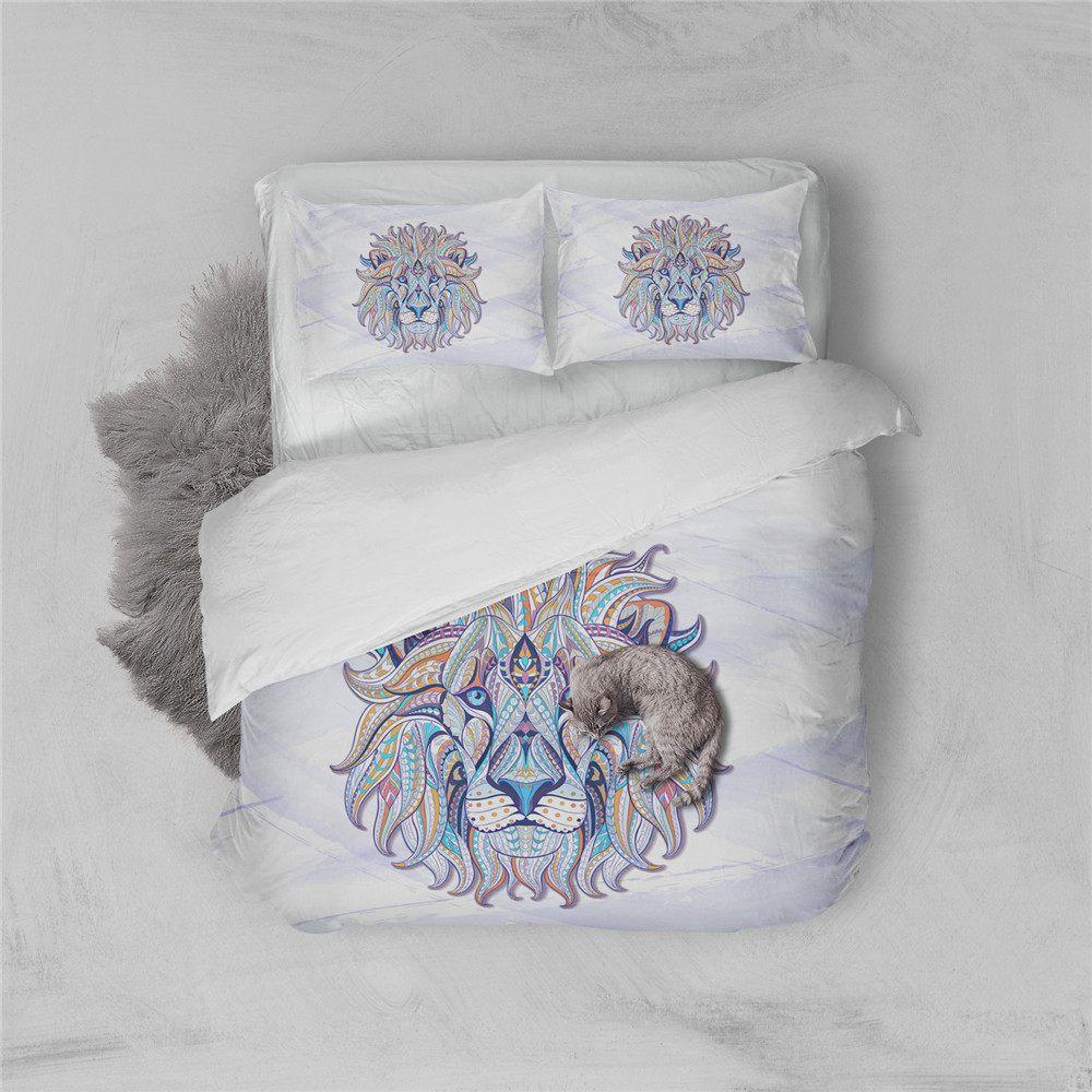 Parure De Lit Fille Inspirant High Quality Luxury 3d Lion Wolf Bedding Set Western Style Home