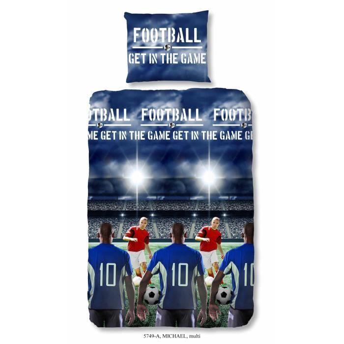 Parure De Lit Foot 1 Personne Bel Parure De Lit Football Achat Vente Pas Cher