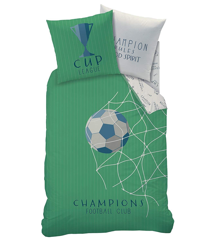 Football Parure de lit Trophée Cup & Champions Club Filet Goal