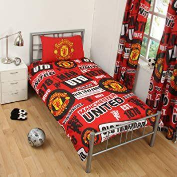 Parure De Lit Foot 1 Personne Fraîche Manchester United Fc Housse De Couette Pour Lit Simple Parure De Lit