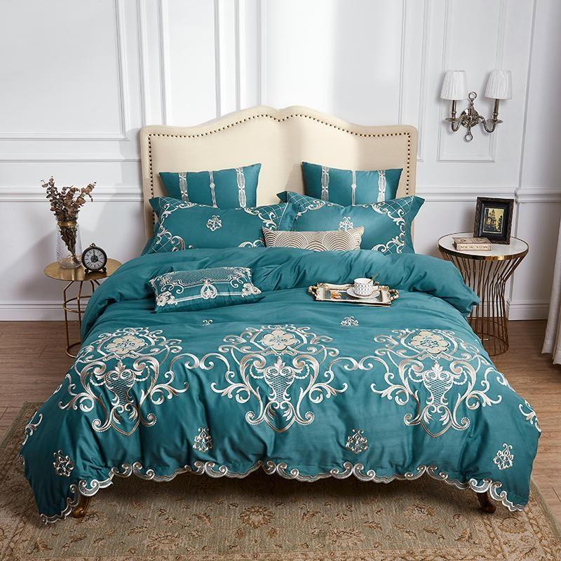 Parure De Lit Foot Bel Luxury Egyptian Cotton Tribute Silky Bedding Set Queen King