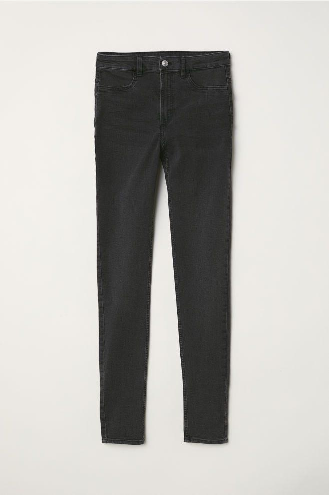 Parure De Lit Gris Et Rose Impressionnant Super Skinny High Jeans Gris Foncé Femme