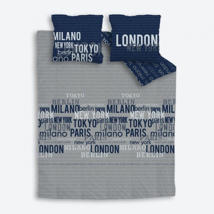 Parure De Lit London Inspiré Couette Pour Lit 90—200 Parure De Lit Hugo Boss Stencil Chestnut