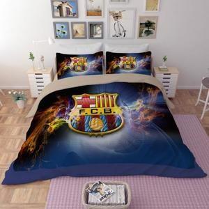 Parure De Lit Minion Inspirant Parure De Lit Football Fc Barcelona Messi 200 230 Cm 4 Pieces