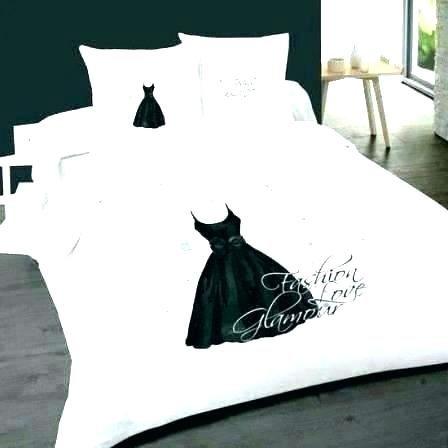 Parure De Lit Noir Et Blanc Joli Linge De Lit Noir Parure Lit Noir Elegant Parure Lit Noir Linge