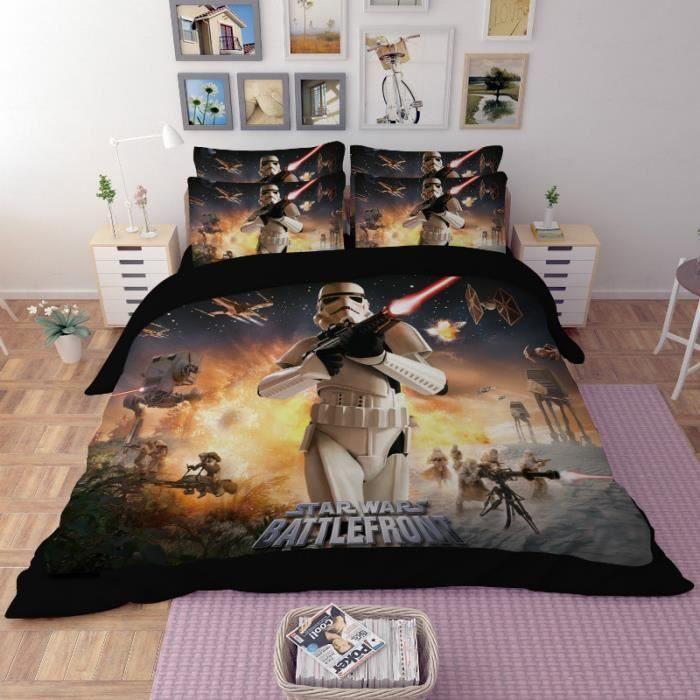 Parure De Lit Satin De Coton Charmant Parure De Lit Star Wars Battlefront 220 240 Cm 4 Pieces Achat