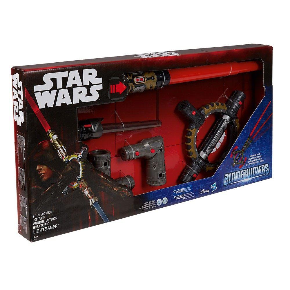 Parure De Lit Star Wars De Luxe Sabre Laser Lumineux Rotatif Star Wars Spin Action Rouge