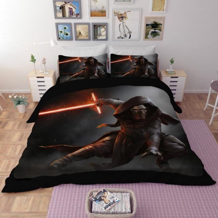 Parure de lit Star Wars 220 240 cm 4 pieces Achat Vente housse