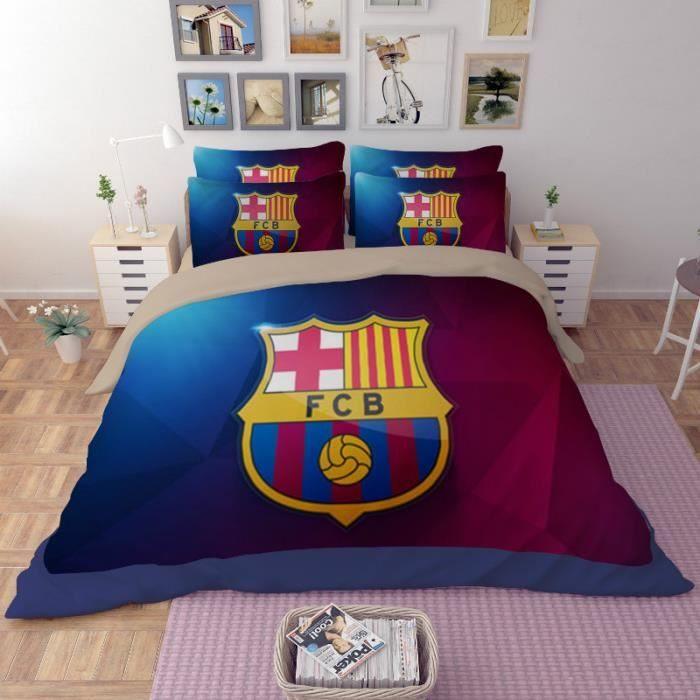 Parure de lit fc barcelone 2 personne