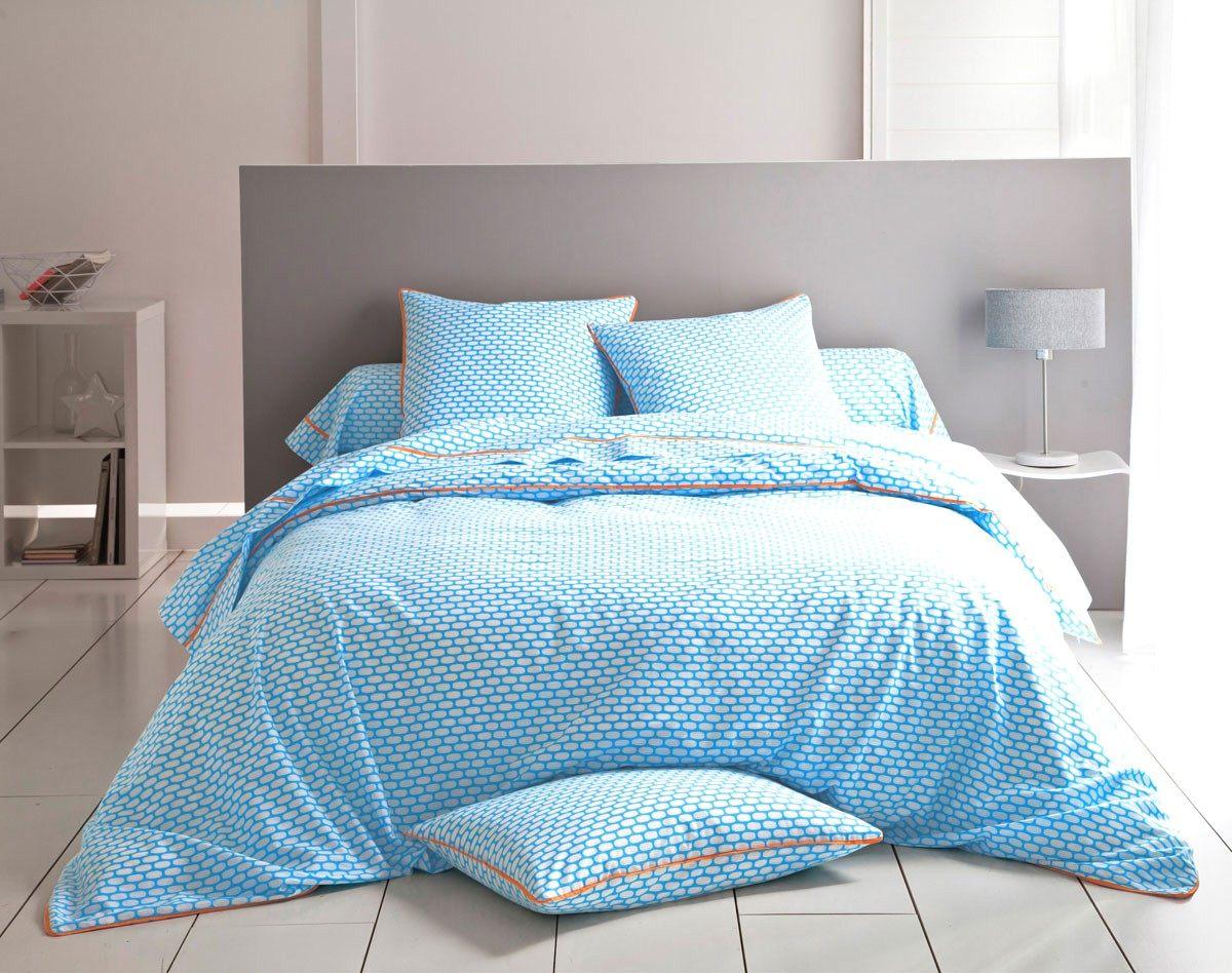 Parure Lit 200×200 Agréable Parure De Lit Bleue Nazenin Home Parure De Lit Bleu Brandalley