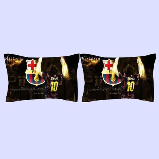 Parure de lit football fc barcelona Messi 200 230 cm 4 pieces