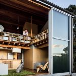 Plan Lit Mezzanine Douce Modern Small Space In New Zealand With Deck And Lofted Bedroom With