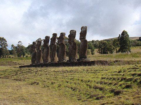Prédateur Punaise De Lit Douce 第四天 前往ahu Vinapu 祭祀台 提供红色石材的 Puna Pao 火山采石场